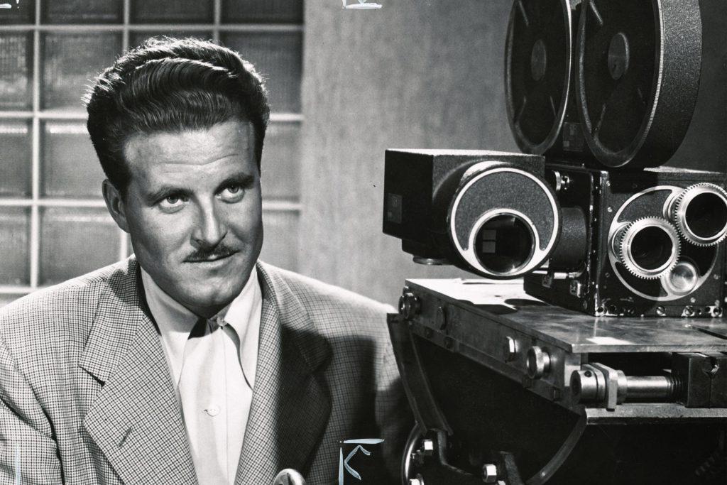 Norman Dyhrenfurth als Leiter der Filmabteilung, Universität von Kalifornien, Los Angeles 1950