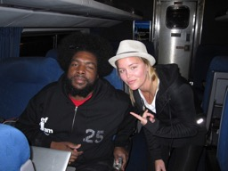 Grete und Sound-Professor Questlove, bekannt von der formidablen HipHop-Band The Roots und von der Late Night Show mit Jimmy Fallon.