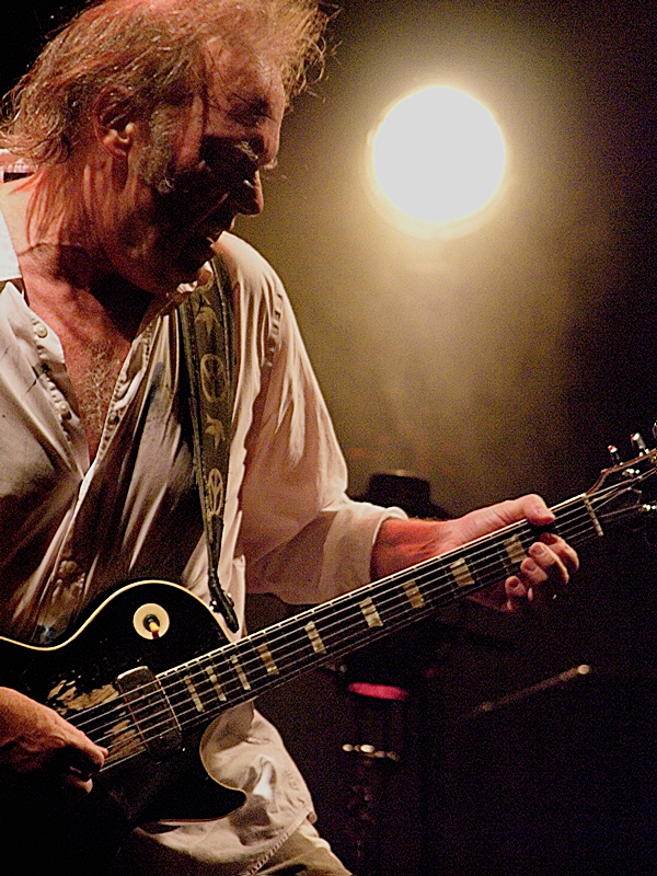 Neil Young, close to the source. Live in Firenze, Italy with his main axe Old Black.