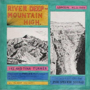 Hoppers Cover-Artwork für die Single River Deep-Mountain High von Ike & Tina Turner (1966).