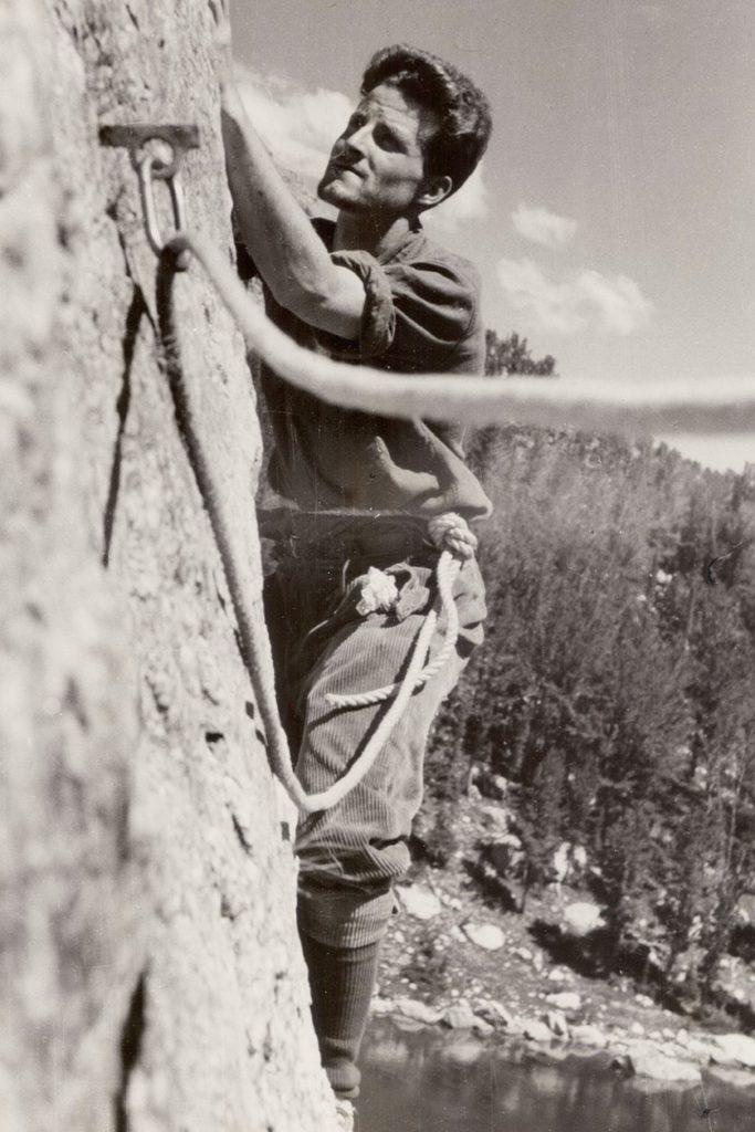 Norman beim Klettern in den Grand Tetons.