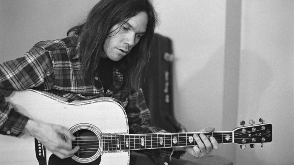 Neil Young around the time of Harvest.